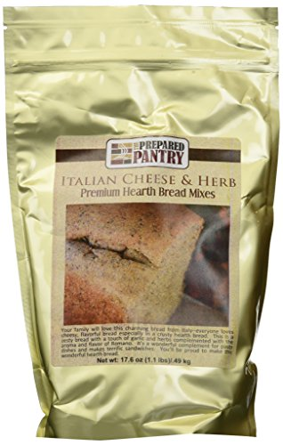 (The Prepared Pantry 4-Piece Italian Cheese and Herb Gourmet Bread Mix, 70.4 Ounce )