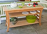 Cedar Entertaining Buffet Table 58In For Sale