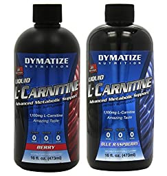 Liquid L-Carnitine 1100 Berry 16 Oz/Blue Raspberry 16 Oz (1 of Both)