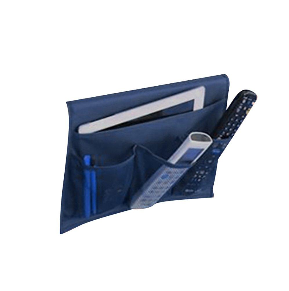 Baymate Bed Pockets,4-Pocket Home Tidy Bedside Storage Bag for Magazines,Phone Homewares (33*44.5cm)