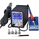 2in1 995d Lead-Free Soldering Station Iron Station SMD Rework Station Digital Welding Tool ESD Plcc BGA Repair Tool with