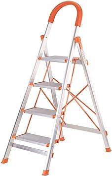 Escalera Plegable Para El Hogar - Escalera De Aluminio Gruesa Escalera Escalera Móvil Escalera De Interior Escalera De Ingeniería (Tamaño : Three step ladder): Amazon.es: Bricolaje y herramientas