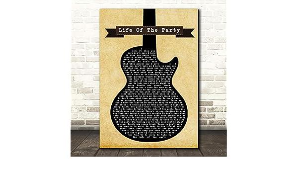 Shawn Mendes Life of The Party - Letra, diseño de guitarra, color ...