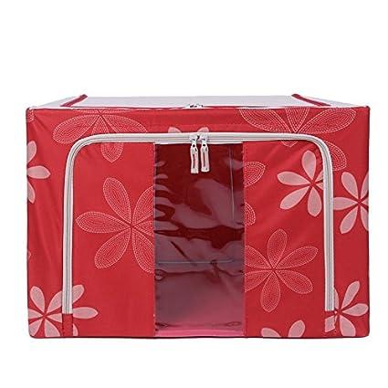 Bastidor de acero oversize Oxford caja de almacenaje plegable de tela manta caja de almacenamiento de