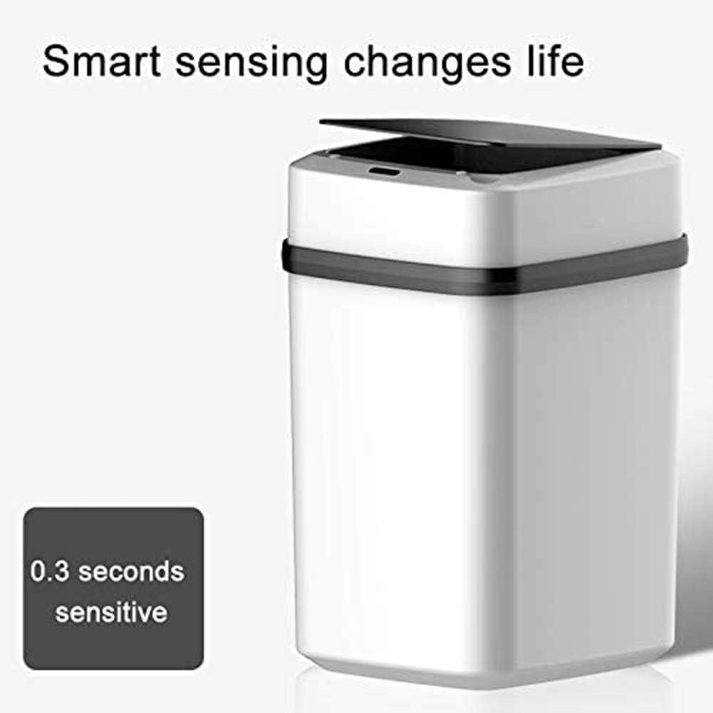 Oreillers RJF Smart Sensor Bin Automatique Intelligent 10 L USB Poubelle pour Cuisine//Chambre//Salon//Salle de Bain