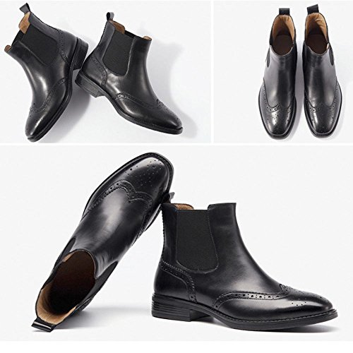 tacco donne piatto faux caviglia imbracatura pelle grosso casuale addensare plus comfort velvet foderato caldo stivali black tpHqwq