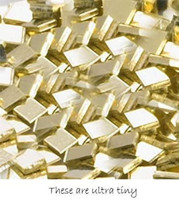 14k Yellow Gold Chip Solder Ultra Tiny Pieces 1mm X 1mm X 0.25mm 14kt (Qty=48) by uGems