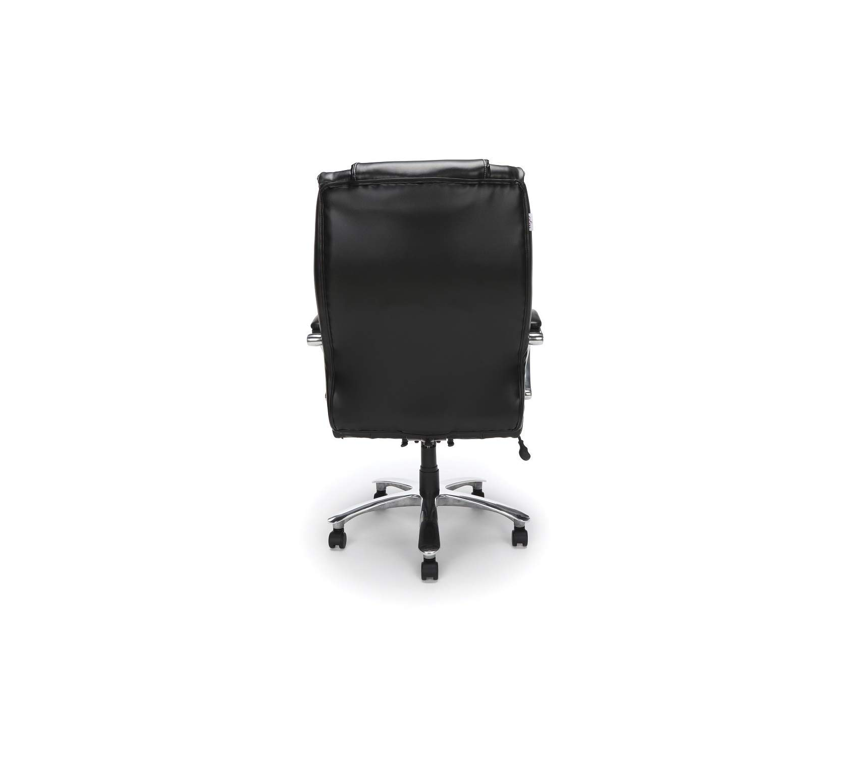 Оfm Avenger Series Big and Tall Leather Executive Chair - Black Computer Chair with Arms, Black/Chrome by Оfm (Image #4)