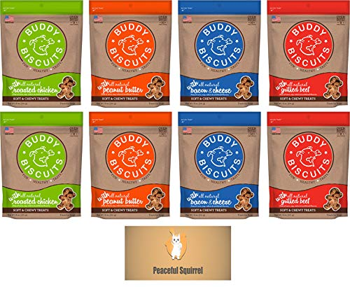 Cloud Star Buddy Biscuits, Soft & Chewy Dog Treats, Variety Pack – 4 Flavors (Total 8 Items) For Sale