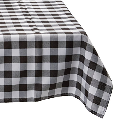 60 x 102 in. Rectangular Tablecloth Black & White Checker (Black & White Checkered Tablecloth)