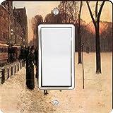 Rikki Knight 2956 Single Rocker Childe Hassam Art Boston In Everyday Twilight Design Light Switch Plate