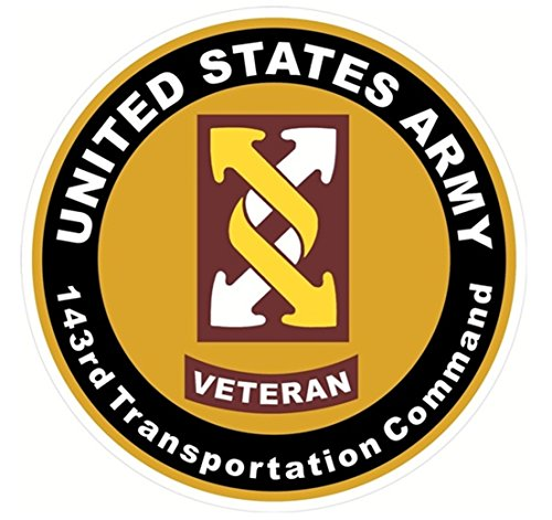 1 Set Mighty Fashionable US Army Veteran 143rd Tranportation Command Sticker Signs Outdoor Windows Car Decal Size 8