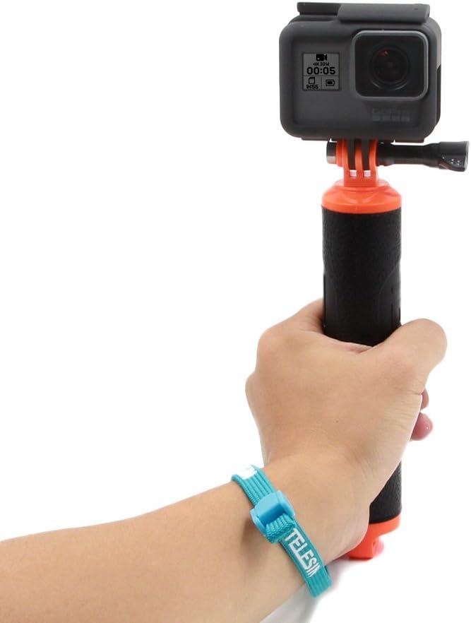 TELESIN boya de buceo POV Monopod impermeable flotante Mano Grip de mano para tr/ípode compatible con GoPro Hero 2//3//3 //4//5//6 deporte c/ámara de acci/ón
