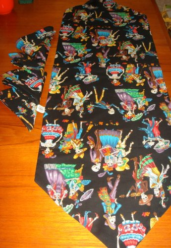 Day of the Dead Dia De Los Muertos Halloween Table Runner & Napkins Celebration (Dia De Los Muertos Fabric Alexander Henry)
