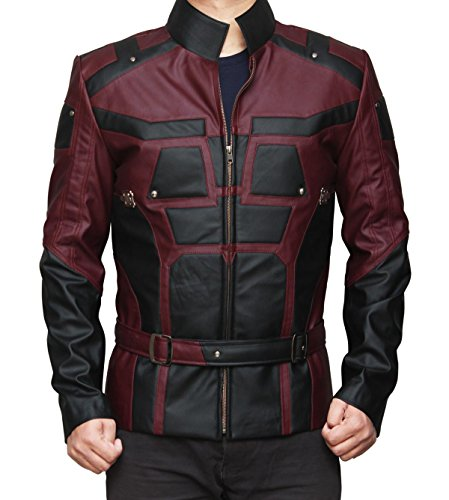 [Charlie Cox Daredevil Costume Jacket (L, Red and Black)] (Daredevil Costumes Replica)