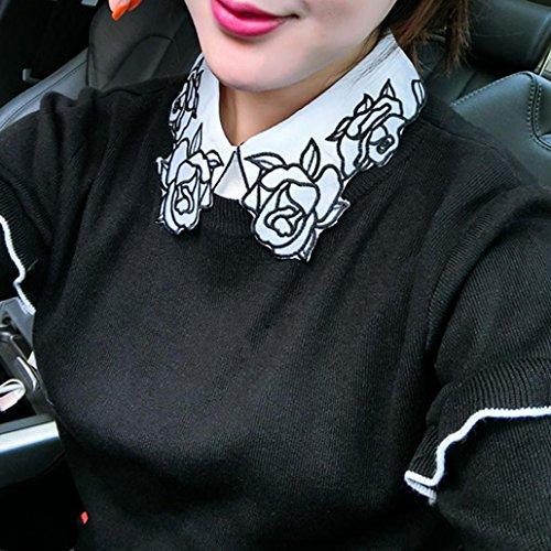 Hemlock Removable Bow Ties, Women's Collar Ties Sweater Bow Ties Choker Lapel Shirt Collar Ties (C) ()