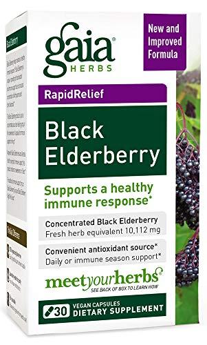 Extract Elderberry Organic (Gaia Herbs Black Elderberry, Vegan Powder Capsules, 30 Count (Pack of 2) – Organic Sambucus Elderberry Extract, Potent Daily Immune Support)