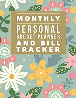 amazon monthly personal budget planner and bill tracker flower