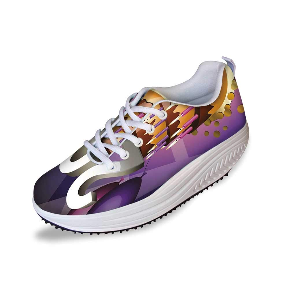 20th Birthday Decorations Stylish Shake Shoes,Cartoon Print Birthday Cake Golden Frosting and Candles for Women,7