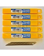 Olfa–Cuchillas de repuesto sab10(50'unidades) 30grados Cuchillas (9mm) compatible con Olfa svr2y sac1Cúter nuevo.