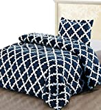 Utopia Bedding Printed Comforter Set (Twin/Twin XL, Navy) with 1 Pillow Sham - Luxurious Brushed Microfiber - Goose Down Alternative Comforter - Soft and Comfortable - Machine Washable