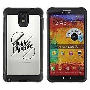 Suave TPU GEL Carcasa Funda Silicona Blando Estuche Caso de protección (para) Samsung Note 3 / CECELL Phone case / / Made In Future Message /