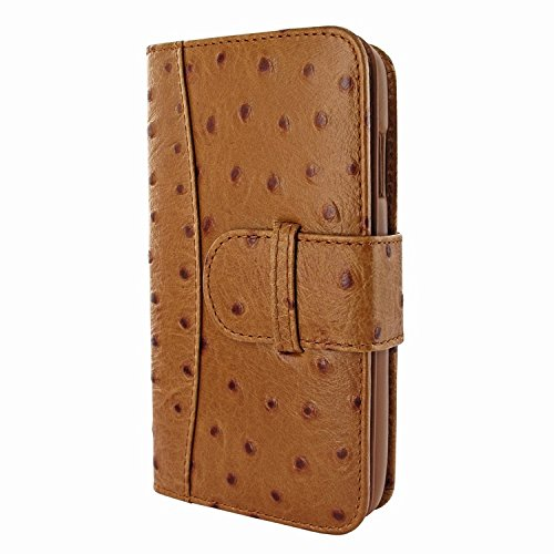 Piel Frama 717 Tan Ostrich WalletMagnum Leather Case for Apple iPhone 6 Plus / 6S Plus by Piel Frama (Image #2)