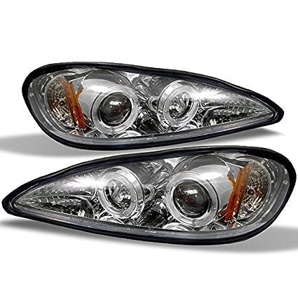 Pontiac Grand Am cromado claro doble Halo anillo proyector de ...