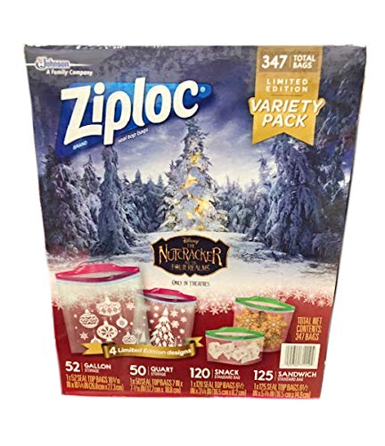 Amazon.com: Ziploc Limited Edition The Nutcracker and the Four Realms Variety Pack Seal Top Bags - 347 Count: Everything Else