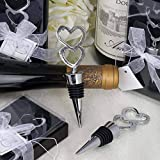 100 Silver Double Heart 2 Heart Wine Bottle Stoppers Wedding Favors Wholesale