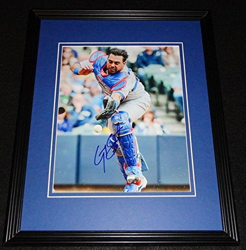 (Geovany Soto Autographed Picture - Framed 8x10 Cubs - Autographed MLB Photos)