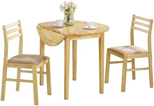 EFD Juego de Comedor Dos Personas, pequeño, de Madera, para Cocina, 3 Piezas, Juego de Mesa y Dos sillas, Redondo, Moderno, para Interiores, Mesa Ajustable y Libro electrónico de Easy&FunDeals: Amazon.es: Juguetes