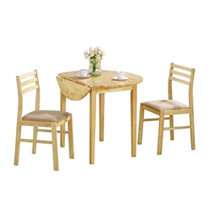 a7fdad45a2 Image Unavailable. Image not available for. Color: EFD Two Person Dining  Set Small Wood Kitchen 3 pc ...