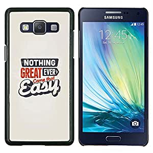 """Be-Star Único Patrón Plástico Duro Fundas Cover Cubre Hard Case Cover Para Samsung Galaxy A5 / SM-A500 ( Gran Came Fácil Nunca cita de motivación"""" )"""