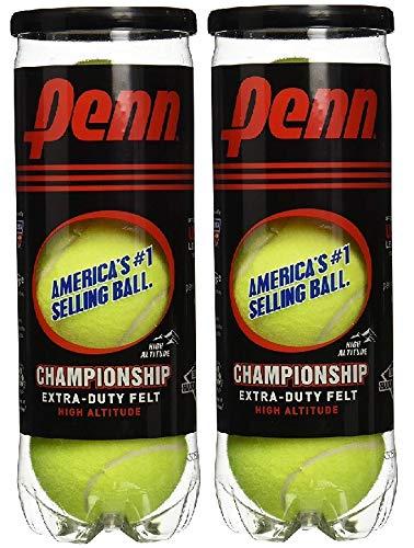 Penn Championship High Altitude Head Tennis Balls – 2 Pack 6 Balls Yellow - USTA &