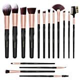 Makeup Brush Set, Acevery 16pcs Premium Cosmetic Brushes for Foundation Blending Blush Concealer Eye Shadow Eyebrow, Cruelty-Free Synthetic Fiber Bristles, Travel PU Leather Makeup bag Included