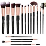Makeup Brush Set, Acevery 16pcs Premium Cosmetic Brushes for Foundation Blending Blush Concealer Eye Shadow Eyebrow, Cruelty-Free Synthetic Fiber Bristles, Travel PU Leather Makeup bag Included.