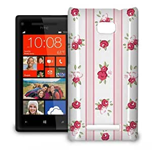 Phone Case For HTC 8X - English Roses Wallpaper Pink Hard Lightweight