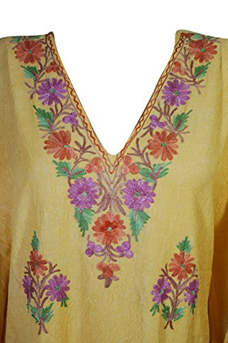Corta Interior Donna Kimono Vestito 2 Mogul Yellow Manica w4qRTT