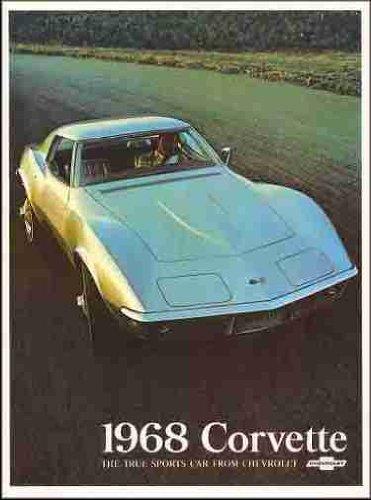 1968 CHEVROLET CORVETTE BEAUTIFUL FULL-COLOR DEALERSHIP SALES BROCHURE - ADVERTISMENT - CHEVY VETTE 68