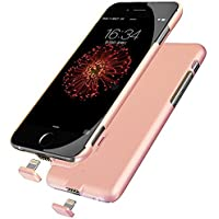 iPhone 7 Plus/6 Plus/6s Plus Common Battery Case, Ultra Slim Extended Battery Charging Case for iPhone 7 Plus/6 Plus/6s Plus(5.5 inch) with 2000mah Real Capacity(Rose)
