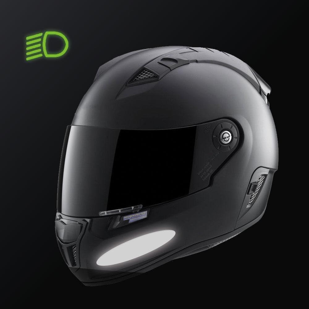 8 Stickers ovales r/éfl/échissants pour casque moto 9x2 cm Blanc R/éfl/échissant