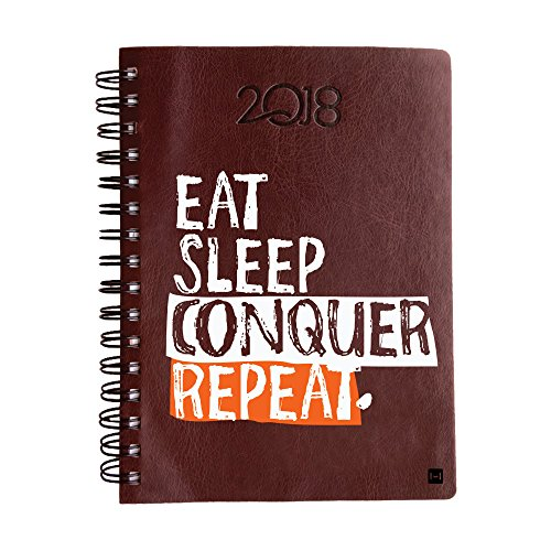 2018 Diary, Hamee Leather Printed Daily Diary 2018 Calendar Year Daily Planner (Design 51)