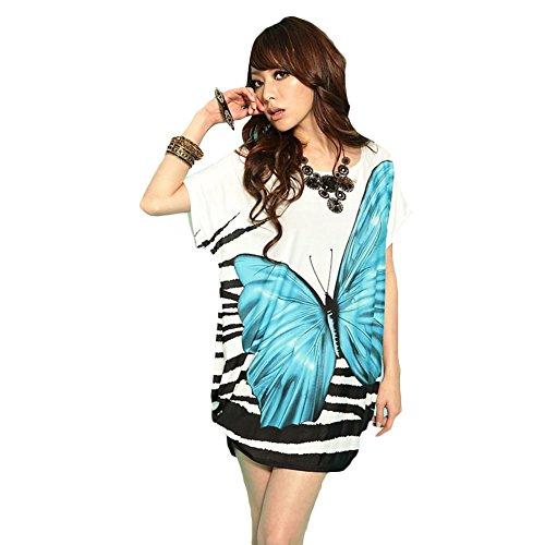 Silk Butterfly Print Dress - 8