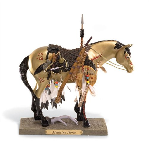 (Enesco Trail of Painted Ponies Medicine Horse Pony Figurine 7-1/2-Inch)