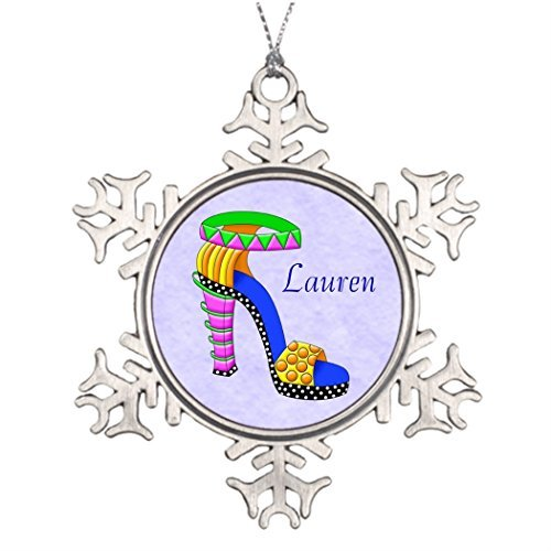 Christmas Snowflake Ornaments Xmas Trees Decorated Funky Chunky Sassy Shoe with Background Natural Christmas Snowflake Ornaments ()