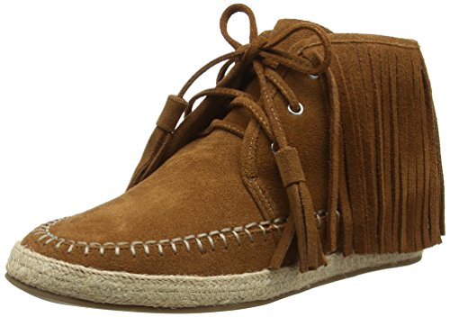 La Strada Tan Coloured Suede Boots with Frings, Women's Low-Top Sneakers Brown - Braun (0214 - Cow Suede Tan)