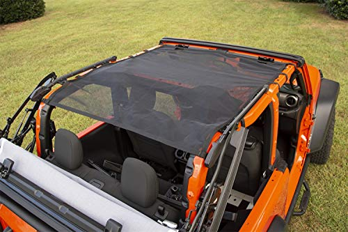 (Rugged Ridge 13579.75 Eclipse Sun Shade, Front/Rear, Black; 18-19 Jeep Wrangler JL 2-Dr)