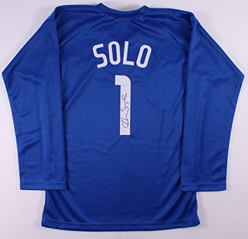 Team Autographed Jersey (Hope Solo Signed Team USA Olympic Soccer Jersey Goalie Autographed (JSA COA))