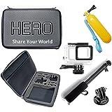Pacote de Acessórios para Gopro Hero 5 Hero 6 Hero 7 Black White Silver Maleta grande impermeável flutuador pau de selfie preto a prova dagua adaptador monopod e caixa estanque (5 itens)